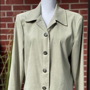 Briggs light green blazer women's size large lady